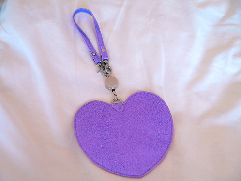 MLTY Heart Retractable Pass Case Purple