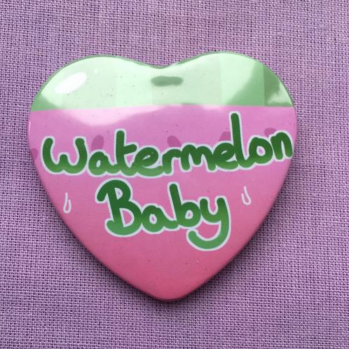 Watermelon Baby Badge