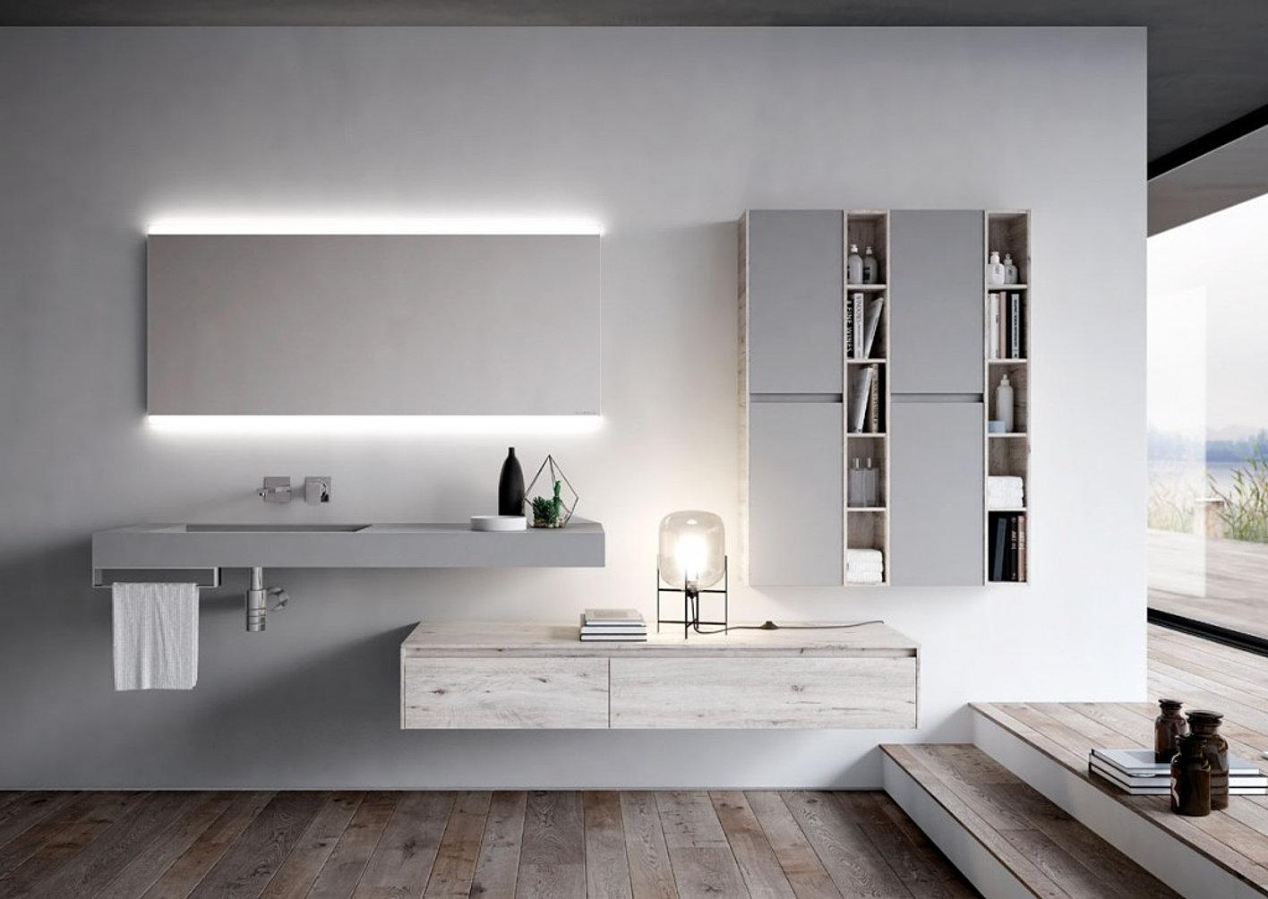 Italian Contemporary Design Bathroom Nyu Collection