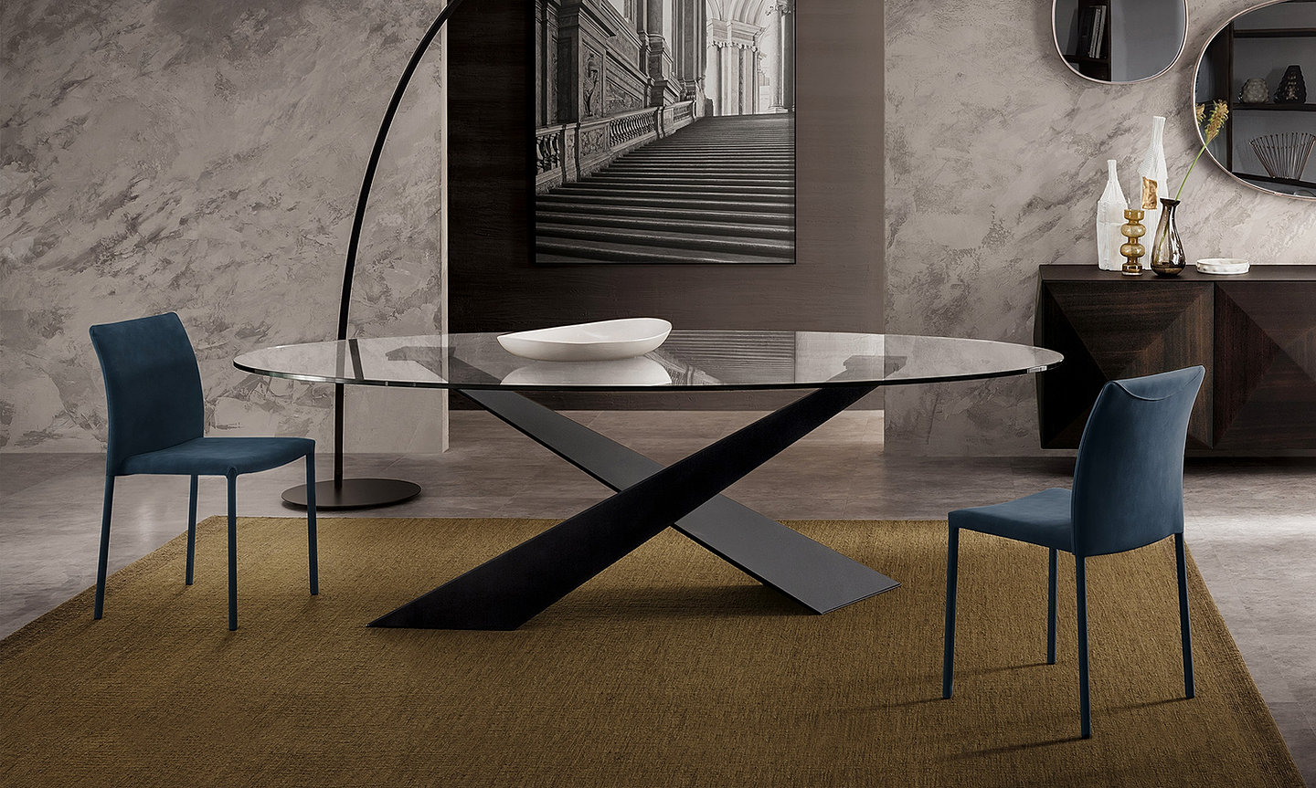 Italian modern dining tables - Riflessi Modern Italian Dining Table