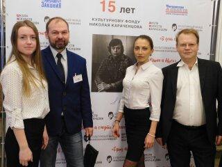 Со студентками из Студенческого театра на юбилее Культурного Фонда Николая Караченцова.jpg