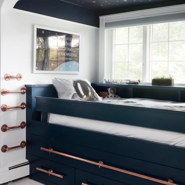 Navy Bedroom