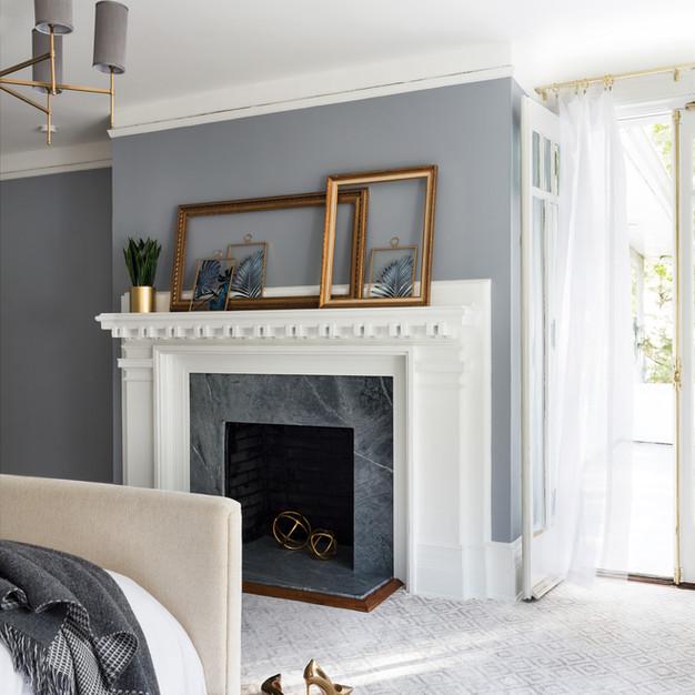 Serene Fireplace Master Bedroom
