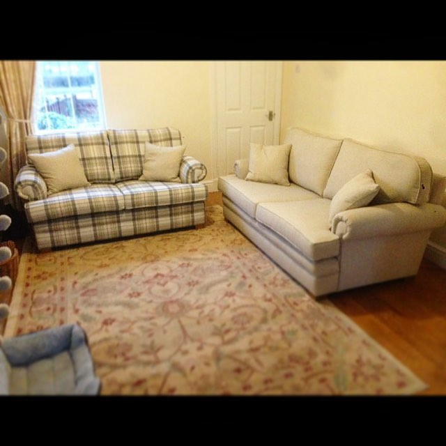 Pair of sofas recovered