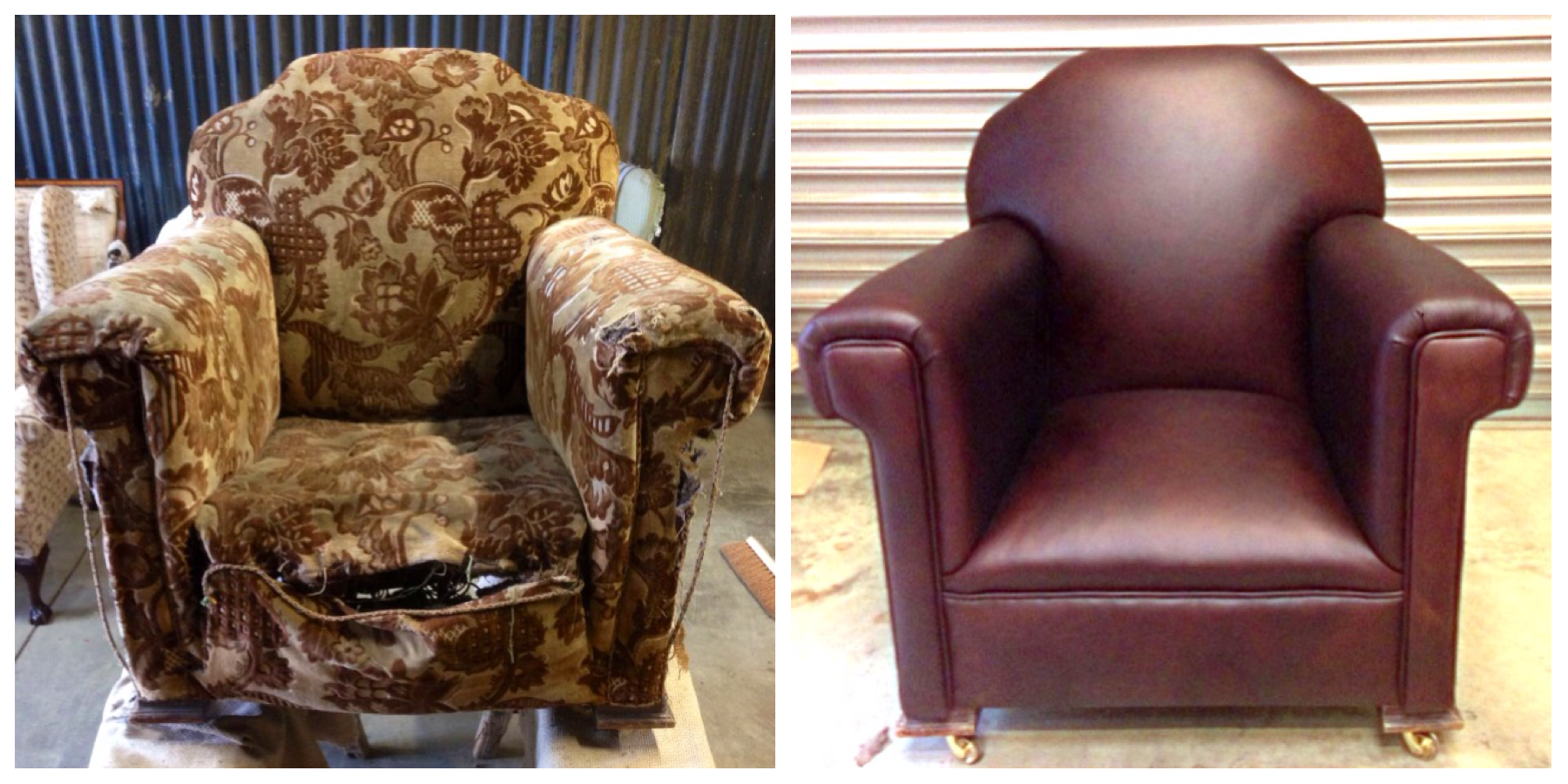 Before & After Armchair