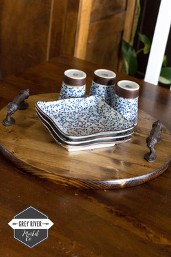 Rustic Round Tray
