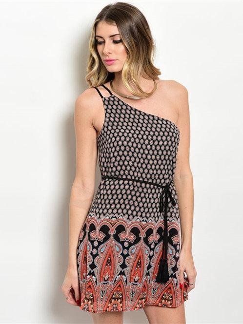 Black Orange Dress