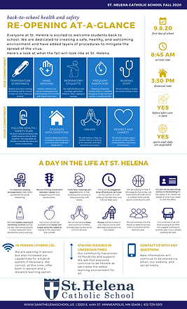 St. Helena Re-Opening At-A-Glance Graphi