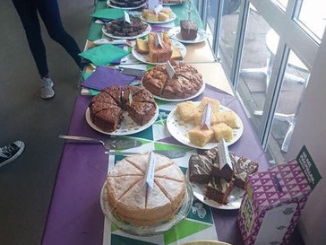 Gill's charity cake sale