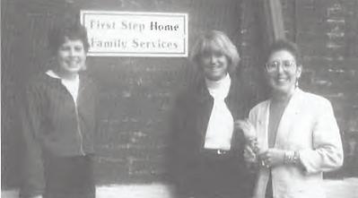 First Step Home staff Jennifer Goodin, Annie Plummer, & Lauretta Omeltschenko