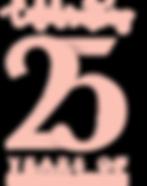Celebrating 25 years of saving lives logo
