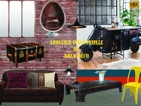 Planche d'ambiance Industrielle By MHLW Déco