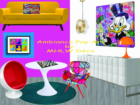 Planche d'ambiance Pop Art By MHLW Déco