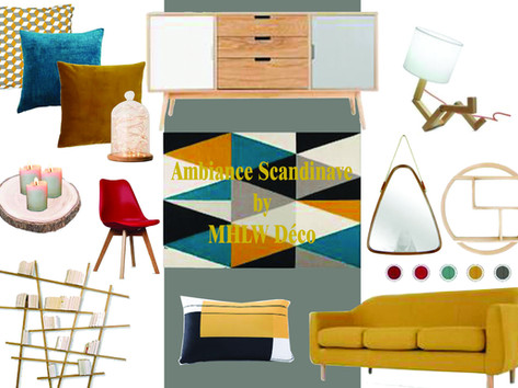 Planche d'ambiance Scandinave By MHLW Déco