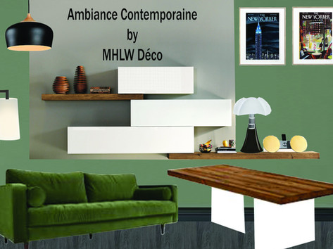 Planche d'ambiance Contemporaine By MHLW Déco