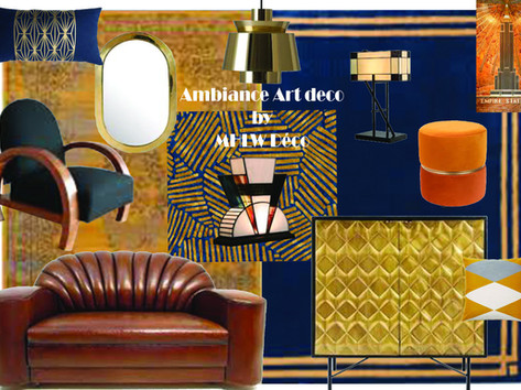 Planche d'ambiance Art Déco By MHLW Déco