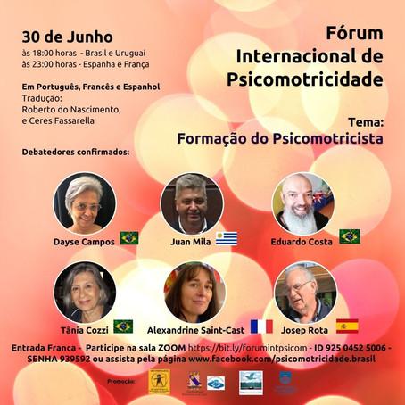 A formação do psicomotricista será tema do Fórum Internacional de Psicomotricidade