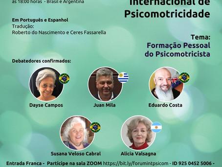 Fórum Internacional de Psicomotricidade: formação  pessoal do psicomotricista é tema de encontro