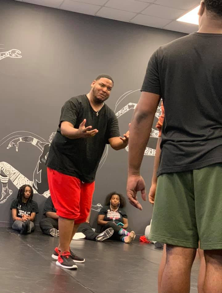 Lion in rehearsal