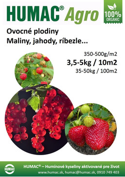 Ovocné plodiny - maliny, jahody, ríbezle...