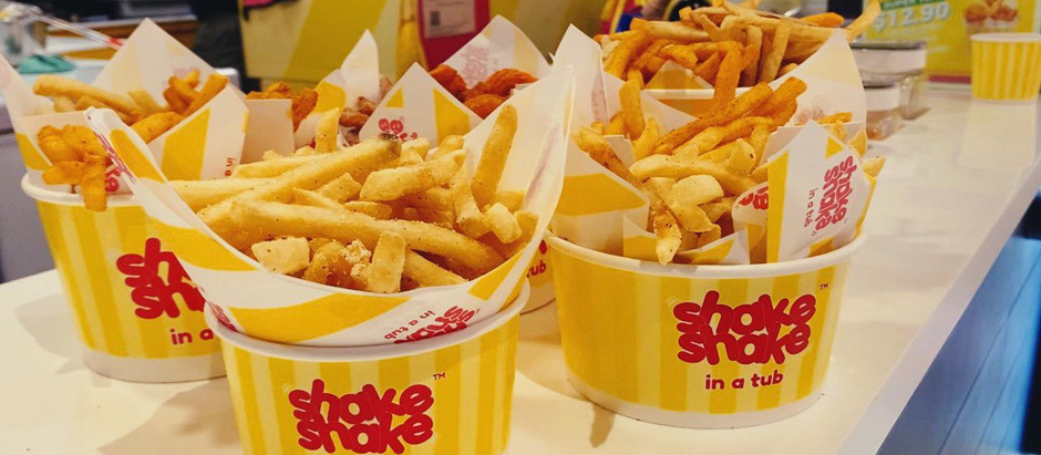 LARGEST FRIES TUB in Singapore from Shake Shake In A Tub!