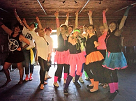 80's Dancers Neon TuTu Funky Hen Party Group Liverpool Circo