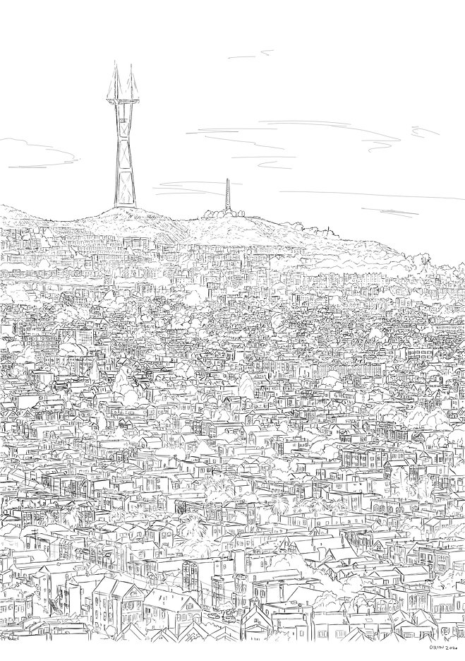 Sutro Tower illustration by Andy Orin