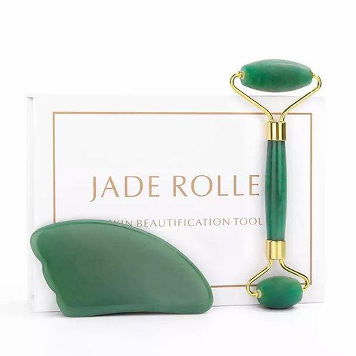 Gua Sha Jade verde.