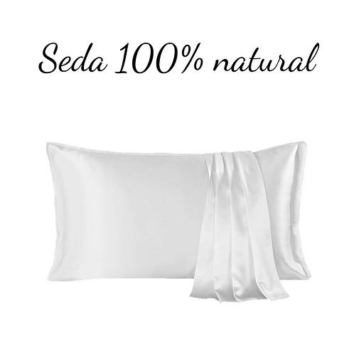 Funda de almohada 100% seda.