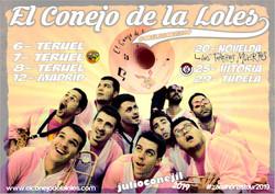 cartel JULIO conejil 19