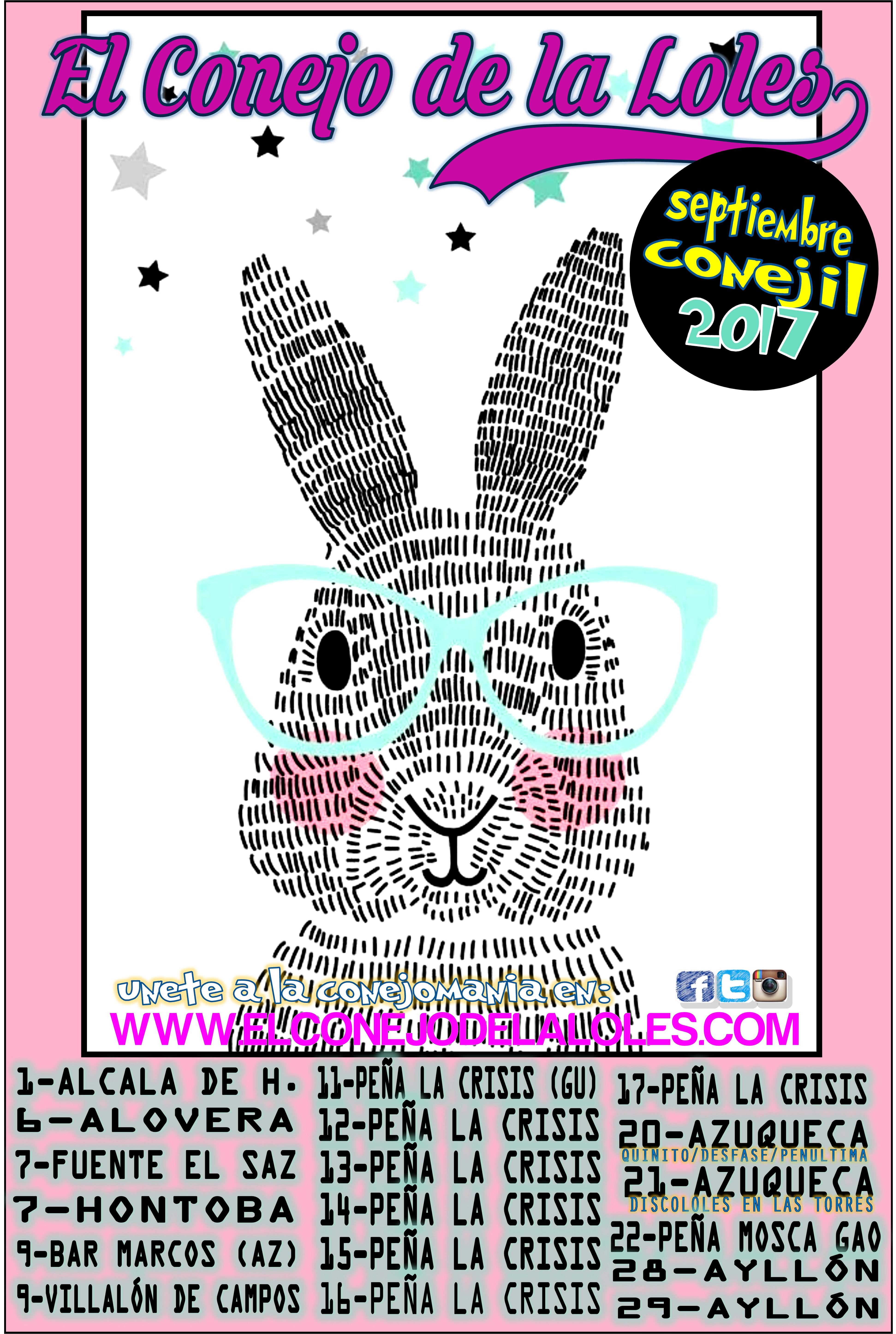 cartel conejo septiembre