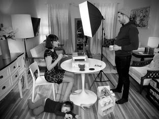 Actors Eleanor Handley & Michael Satow rehearsing Jericho in quarantine 3. [Hover over photo for DOWNLOAD arrow]