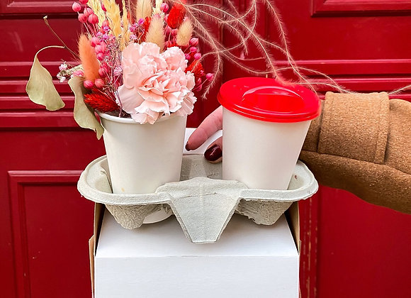CUP WITH FLOWERS
