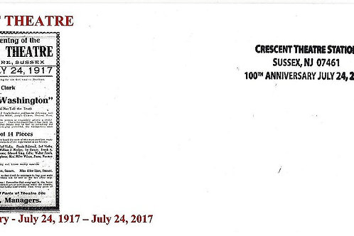 Crescent Theatre 100th Anniversary Commemorative Envelope