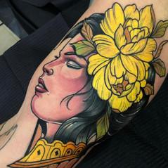 Colour girl tattoo