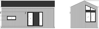 OCKE cabin LIVINWOOD achter- en zijaanzi