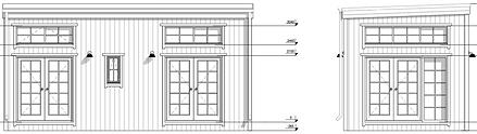 JUTES cabin LIVINWOOD voor- en zijaanzic