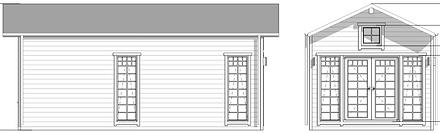 HARRA cabin LIVINWOOD voor- en zijaanzic