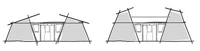 De 2x2 en 5x5 p Wooden Tent van LIVINWOO