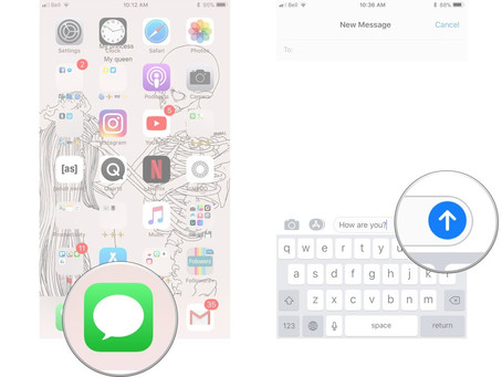 How to add bubble effects on iMessage
