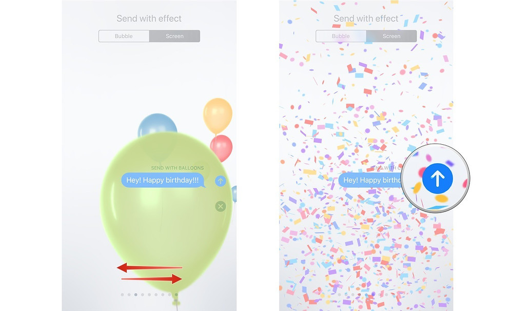 Send effects imessage iphone apple adoptaphone