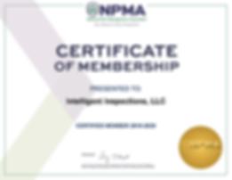 Intelligent Inspections, LLC-NPMA-Cert-2