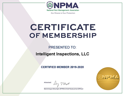 Intelligent Inspections, LLC-NPMA-Cert-2