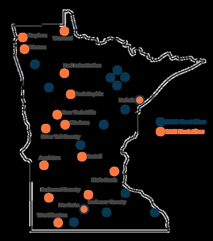 Minnesota Map 2021 Host Sites 5-14-21.pn