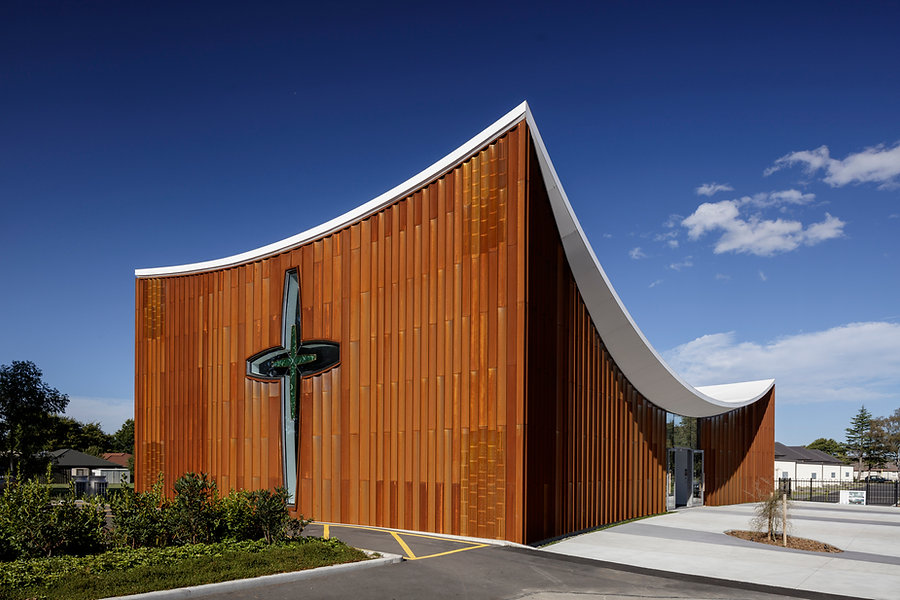 Te Manawa Atawhai | Villa Maria College | Sisters of Mercy | Hamish Shaw Architects | HSA | Christchurch | Corten | COR-TEN | Chapel | Mixed Use | Education | Modern Learning Environment | Sustainability | Bespoke | Architecture | Retreat | Lecture Theatre | Pounamu | Catholic | Custom Cladding | Tectiva | PBS | Etapan | Sam Hartnett |
