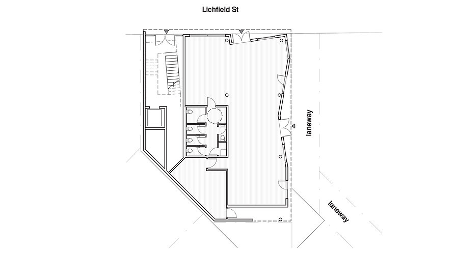Lichfield Street Hybrid | Hamsh Shaw Architects | Multi-use | Mixed Use | Urban Marker | Laneway | Schematic | Living | Working | Co-working | Hospitality