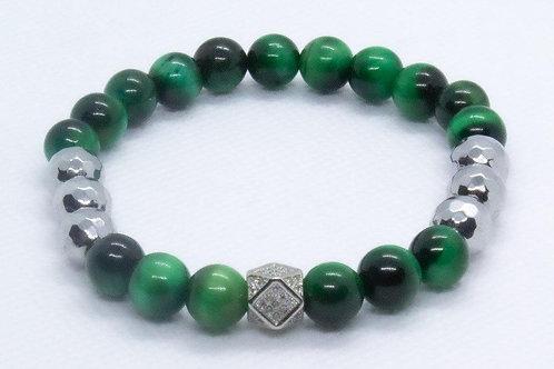 Hematite Beads and Green Tiger Eye Beads