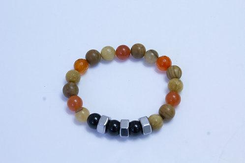 Men's Beaded/Hex Nut Bracelet