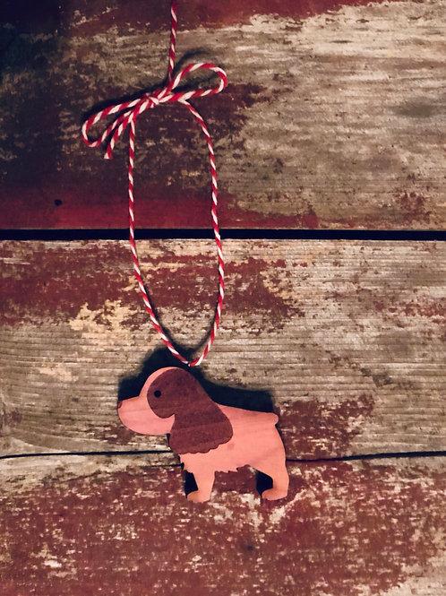 Spaniel Dog Ornament
