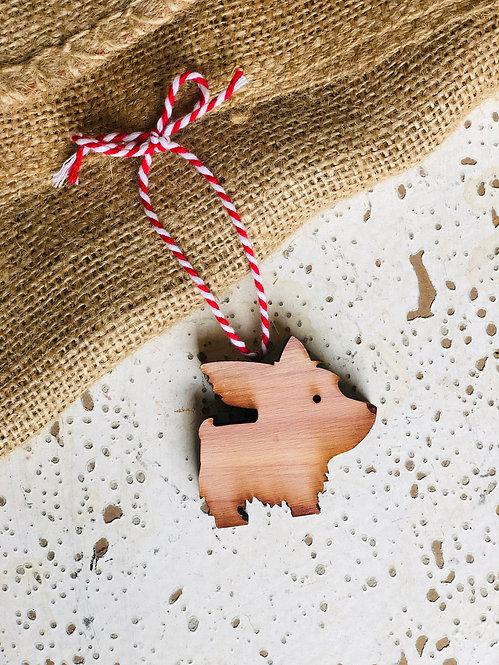 Yorkshire Terrier Dog Ornament